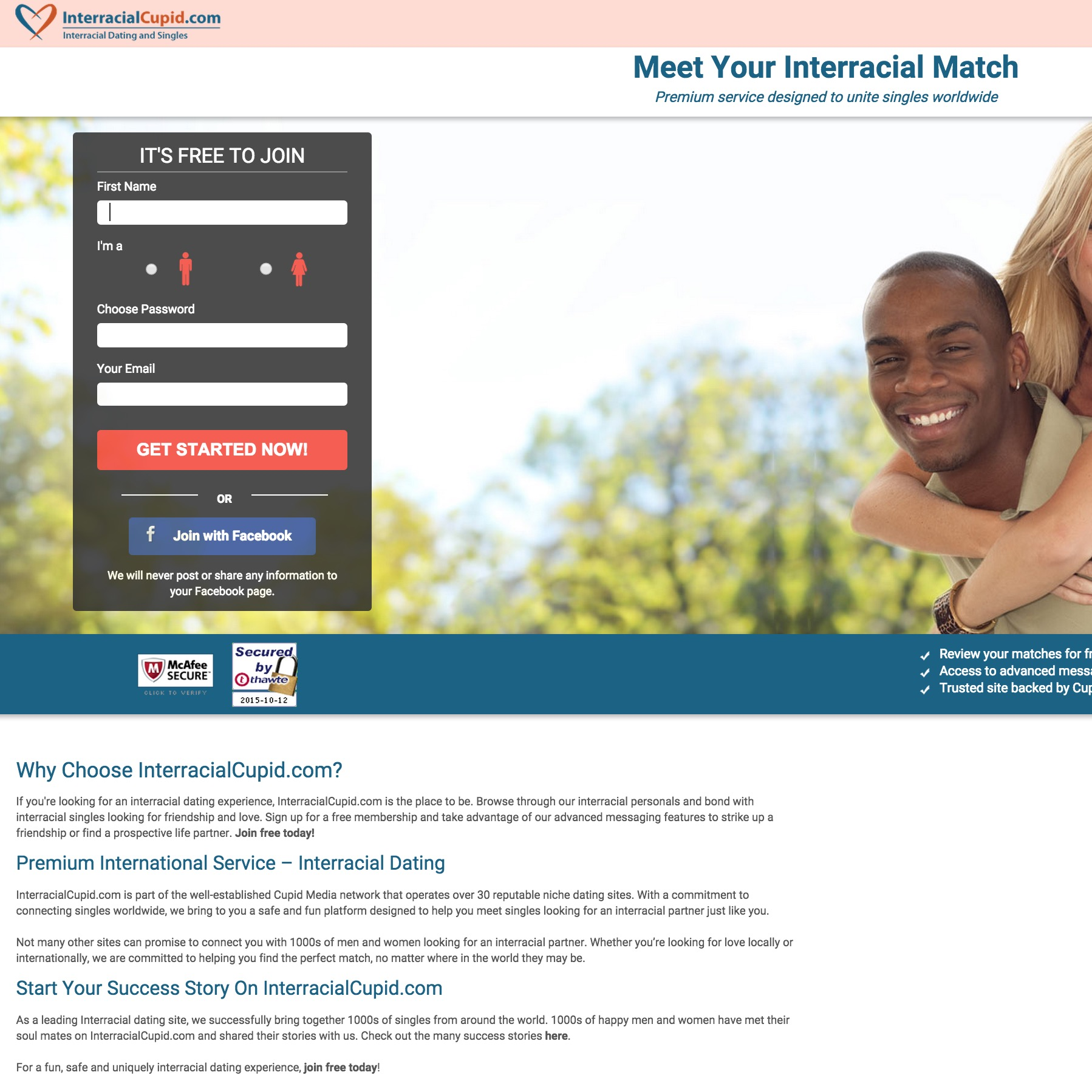Free interracial dating sites with free messaging