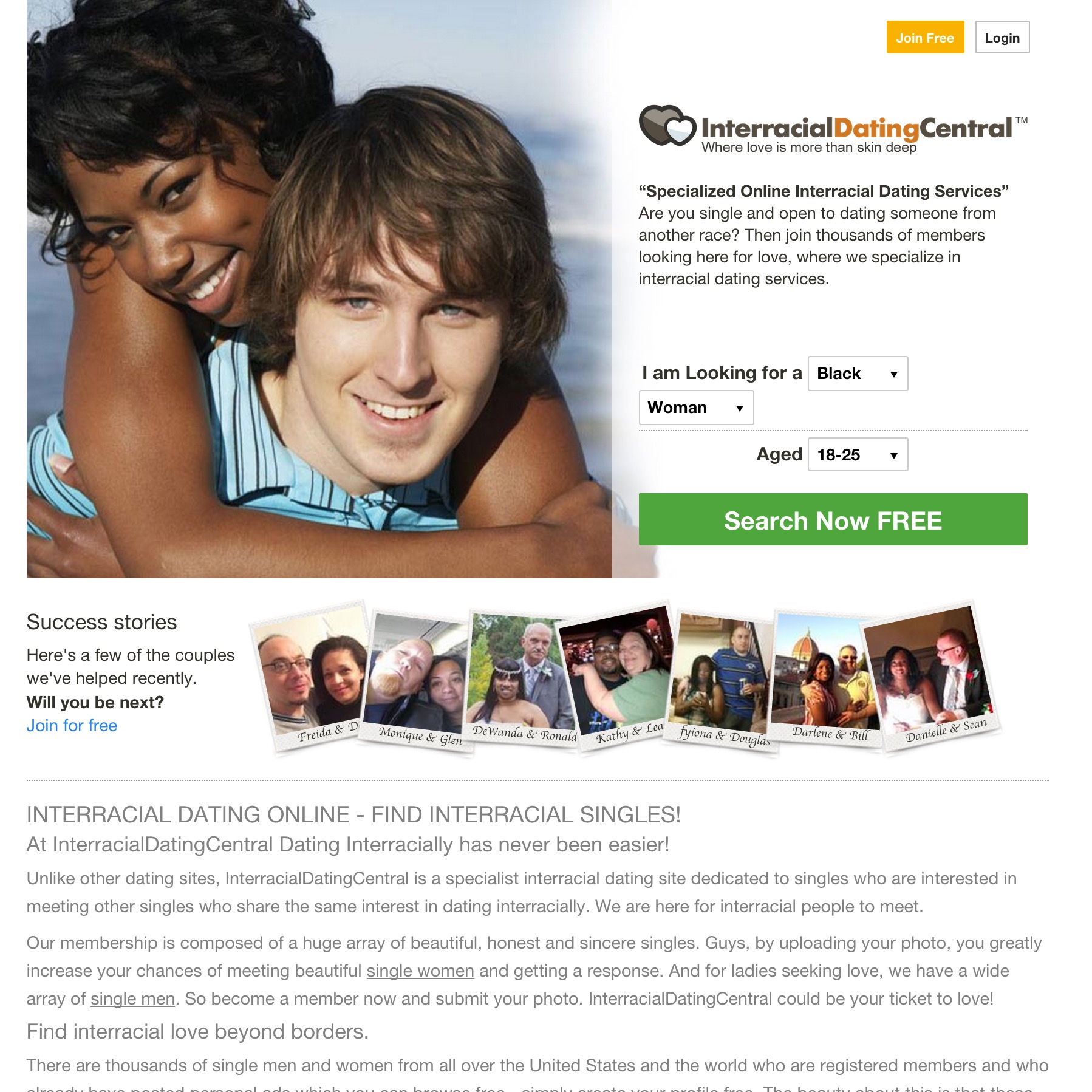 Interracial canadian dating sites